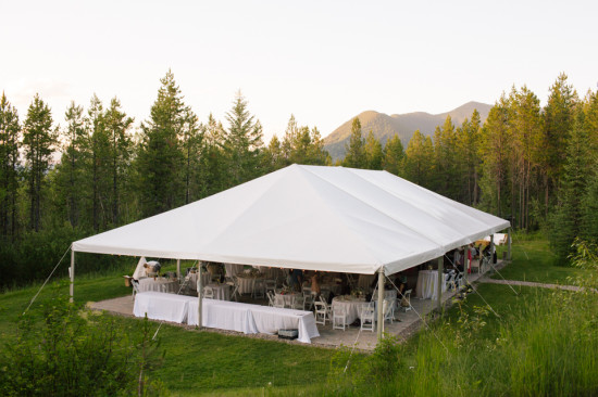 Our private reception meadow and tent | (c) Cluney Photo