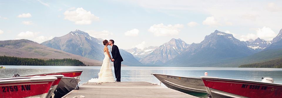 Glacier Park Wedding views | (c) Ike and Tash Photography