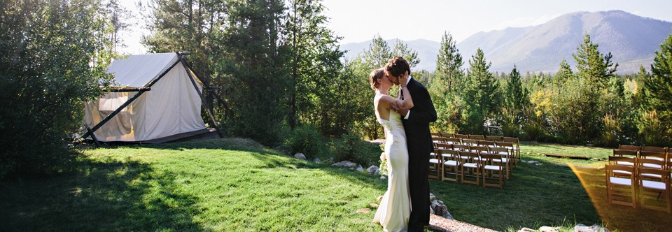 Ceremony meadow with Glacier Park views | (c) Green Door Photography