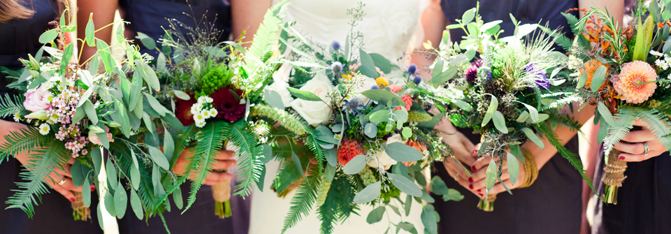 Montana wildflower wedding bouquets | (c) Jeremy and Alicia Brown Photography