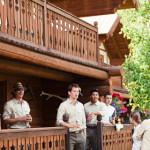 Glacier Park wedding lodging in cabins