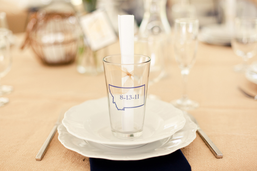 Pint glass wedding favors