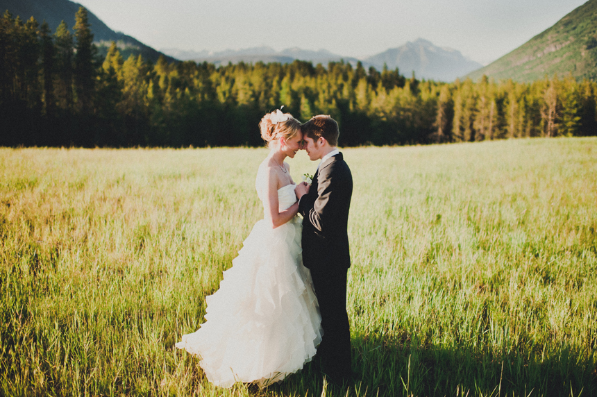 Outdoor mountain wedding venue