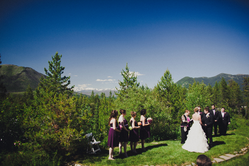 Wedding venue with mountain views