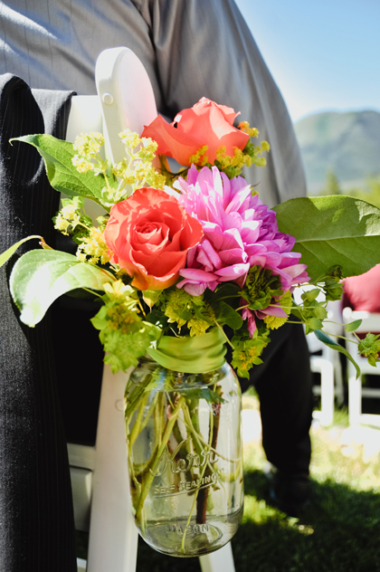 Bright colorful wedding flowers