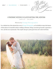 Montana mountain wedding venue on Belles and Bubbles