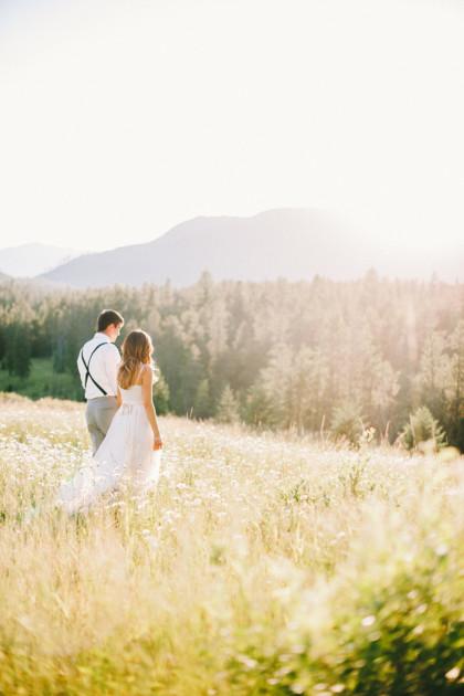Outdoor Mountain Wedding - Glacier National Park