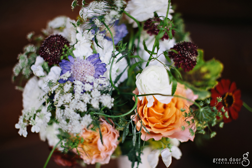 Wild wedding bouquet