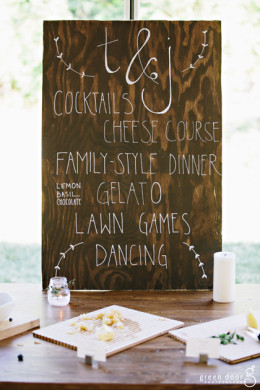 Montana Wedding Planner - Wood Wedding Signs