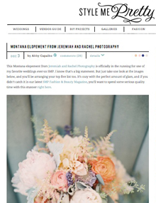 Montana Elopement on Style Me Pretty