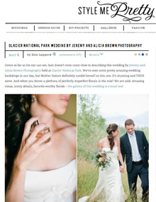 Montana destination wedding on Style Me Pretty