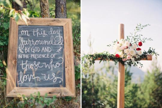 Montana wedding chalkboard signs at Glacier Park Weddings