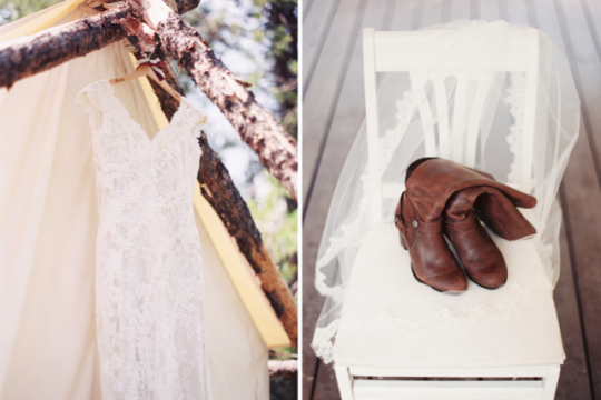 The bride's storied brown boots | Orange Photographie